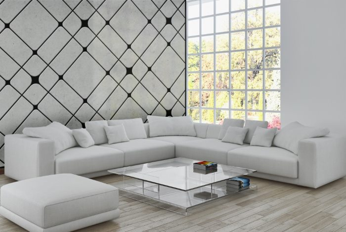 עיצוב קירות בטון