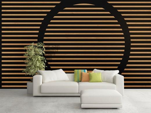 חיפוי קירות בסלון
